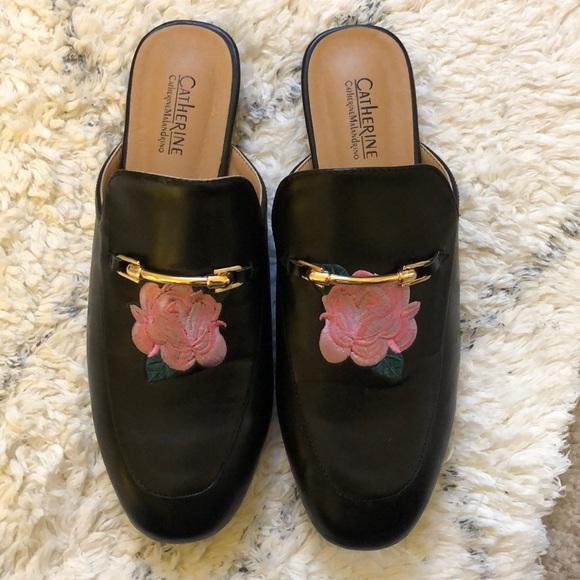 27e7dd6e7d8c Catherine Malandrino Shoes - Beautiful rose embroidered loafers! Size 7  1 2🌸
